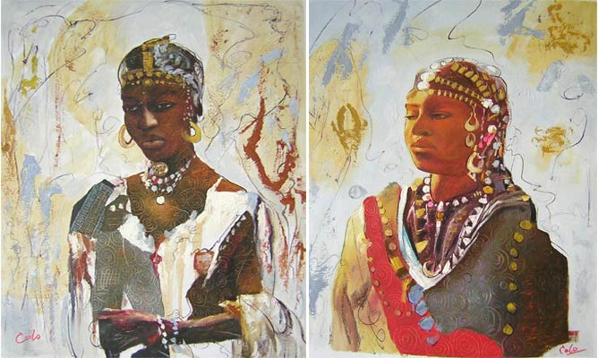 African Portraits @ MyAfricanPainting