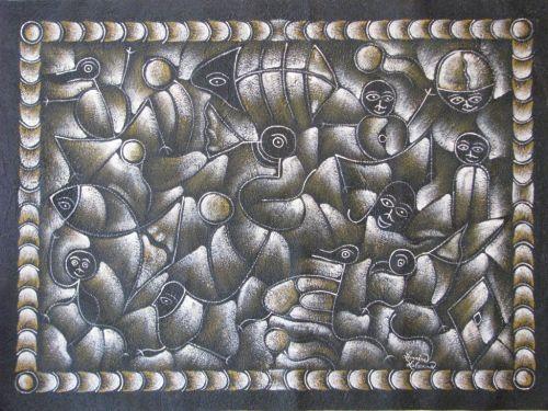Masques et des poissons dans le continuum, LeMaire Lalana, Haiti