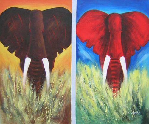 Elephants Wrong Coloured