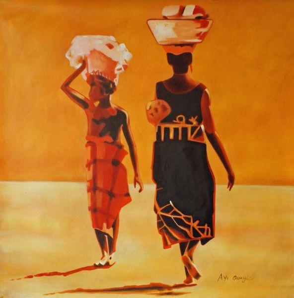 Two Ladies Walking