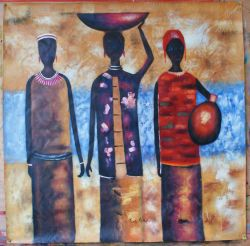 Three Friends Fetching Water