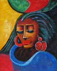 Portrayed African Lady